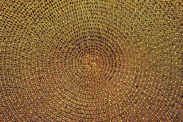 Background gold pattern structure golden