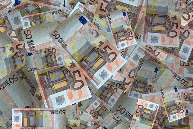 Money bank note euro currency