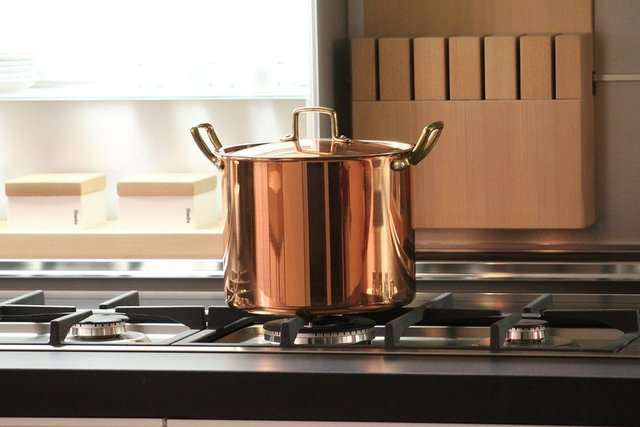 Pot copper cook kitchen tradition