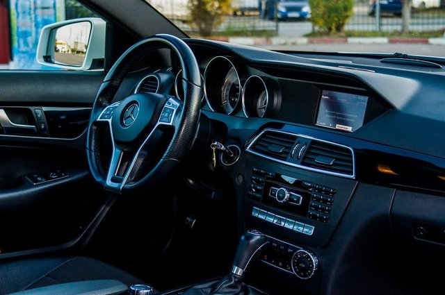 Mercedes interior black luxury design