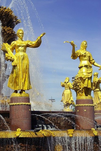 Fountain enea moscow history russia