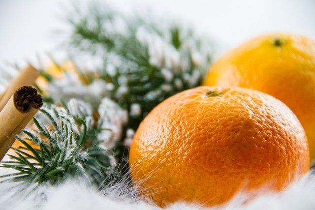 Mandarin christmas advent healthy fruity