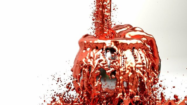 Art liquid copper fluid red