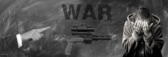 Note weapon war death despair