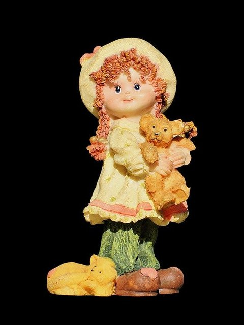 Girl doll figure decoration sculpture
