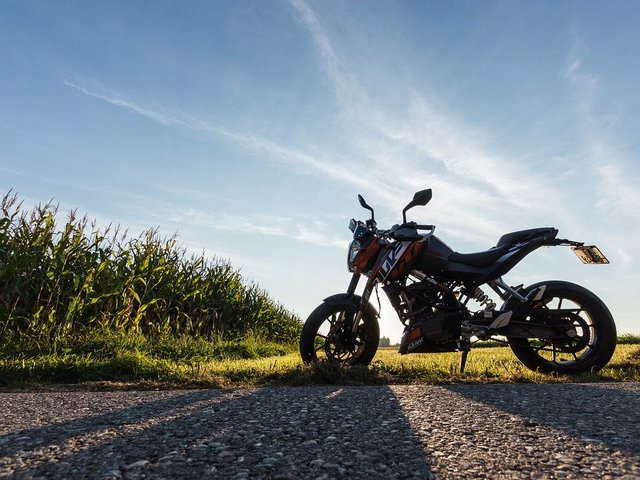 Motorcycle ktm duke sunset leisure