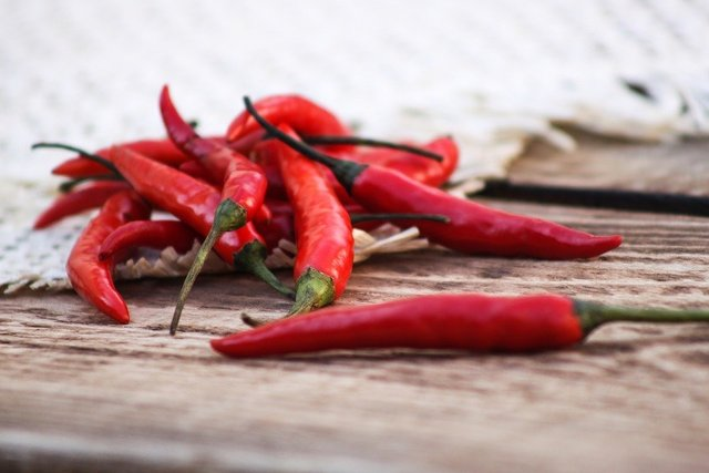 Pepper red pepper chile red fresh
