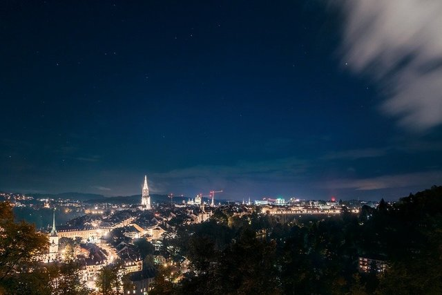 Bern night photograph long exposure switzerland