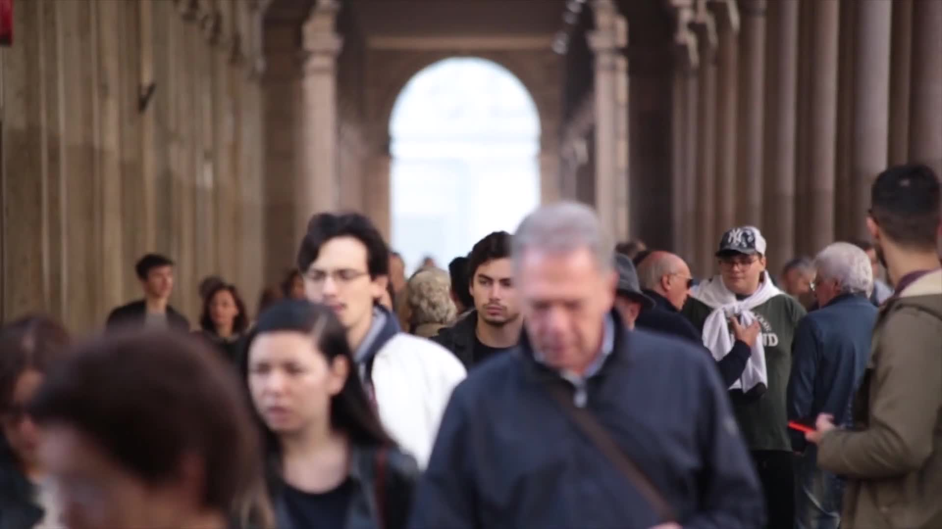Video of people walking