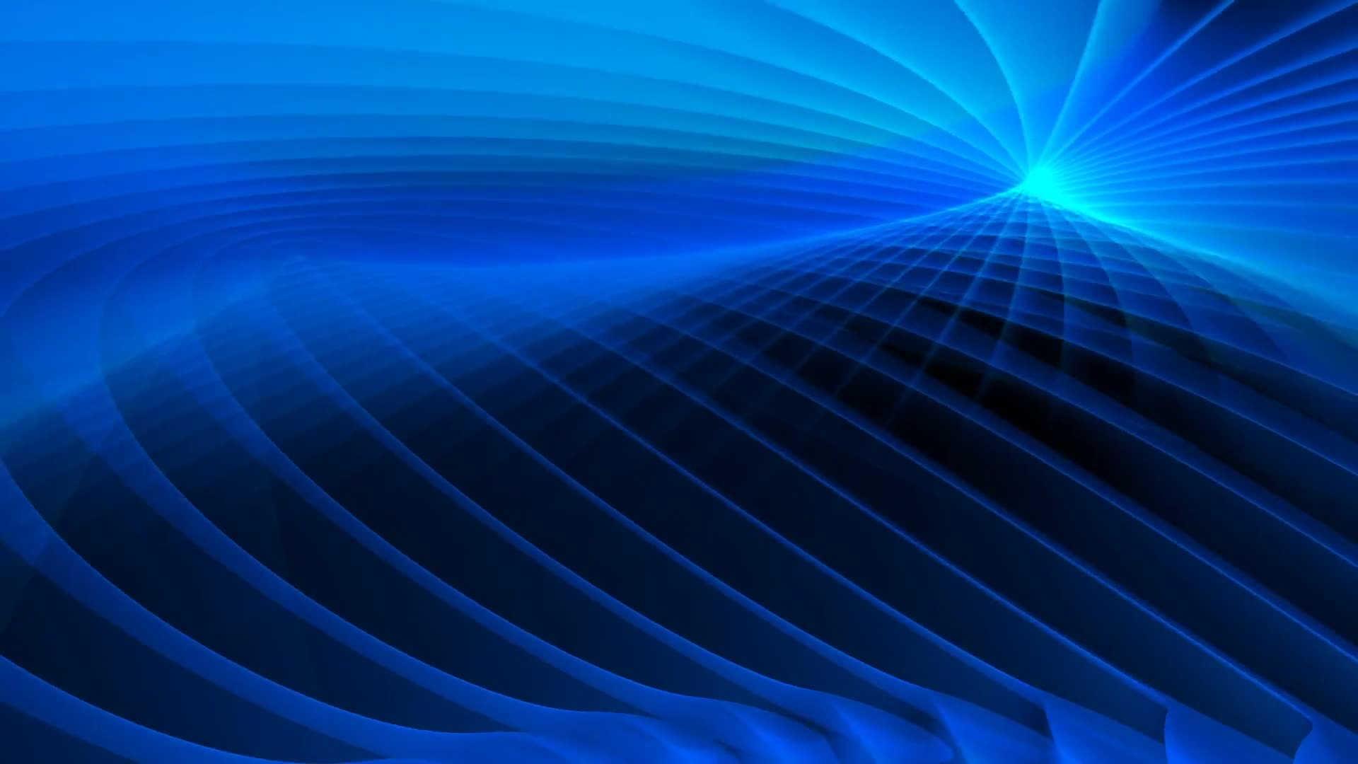 Spinning blue abstract background loop