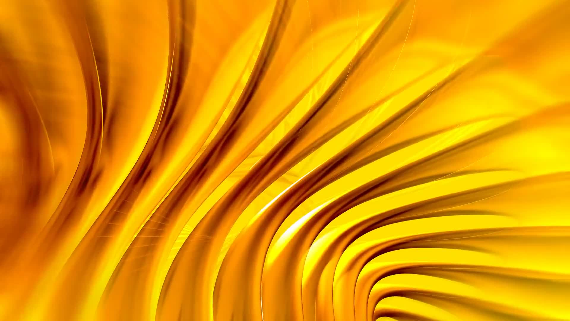Spinning yellow abstract background loop