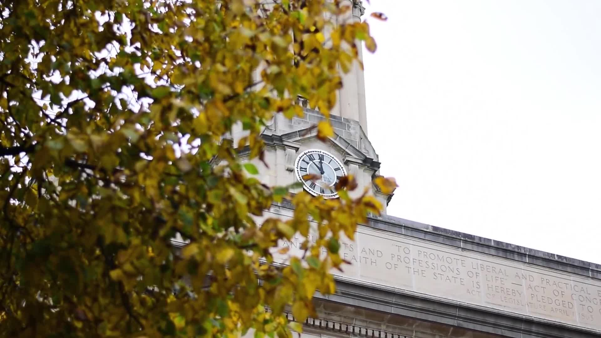 Low angle shot of clock tower