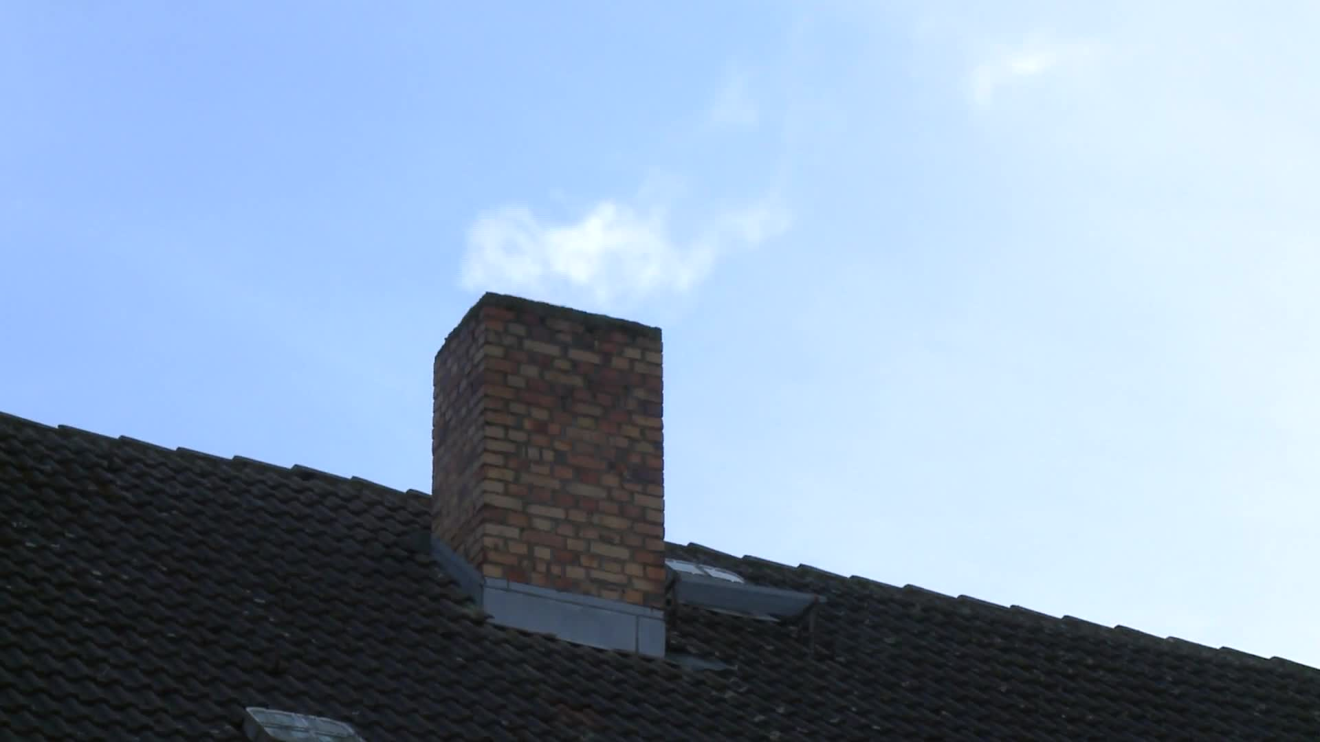 Video of smoke coming out the chimney
