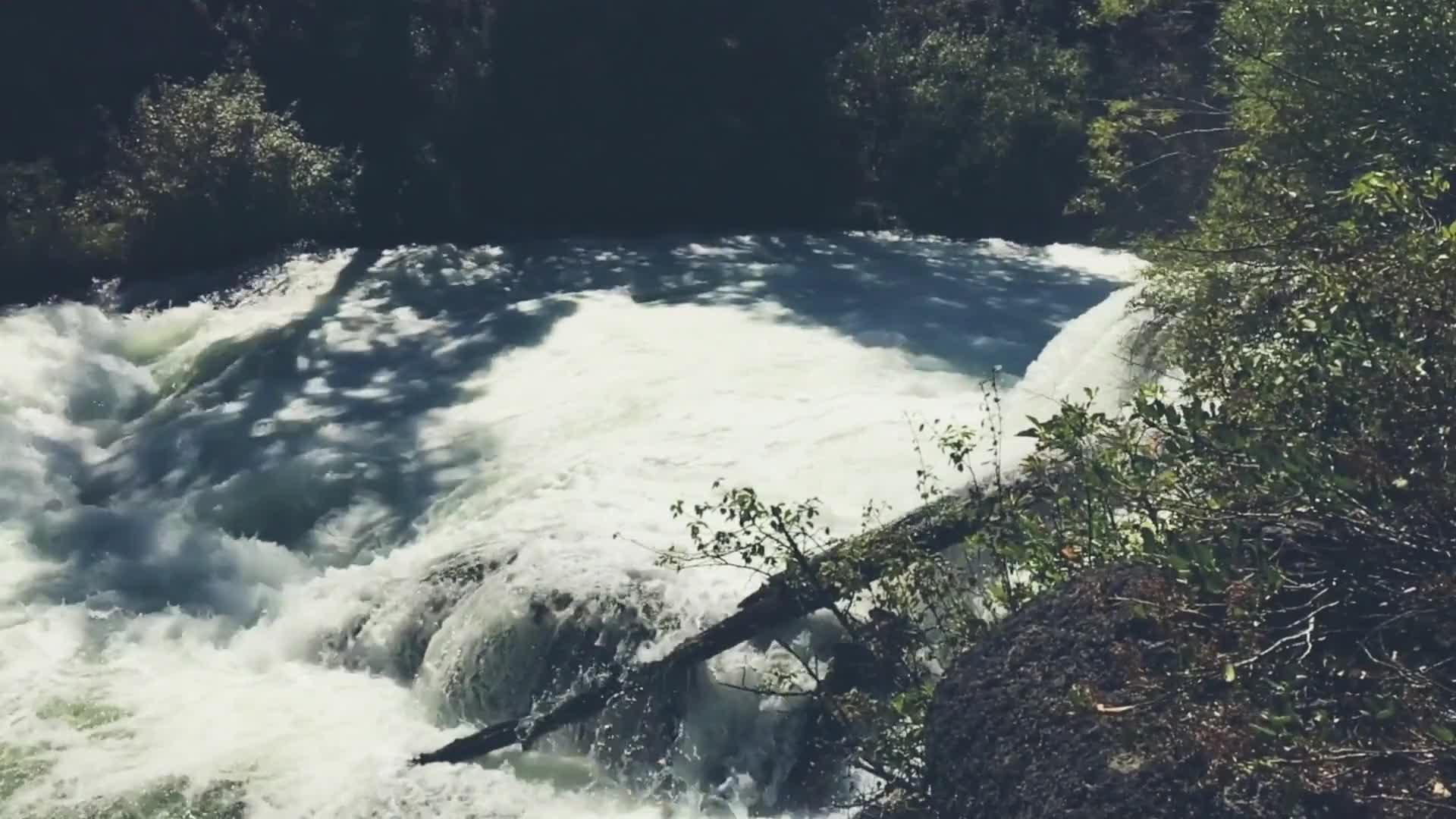 Footage of nature waterfalls
