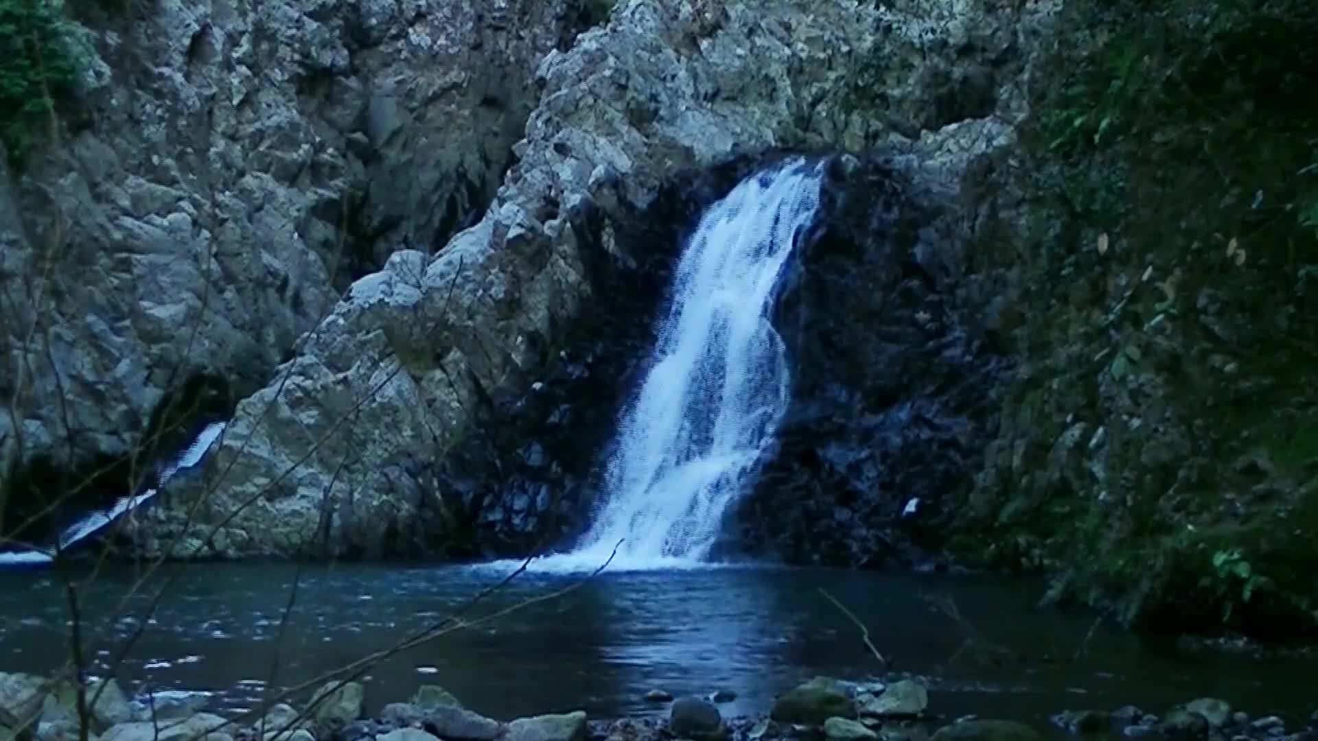 Nature s waterfall footage
