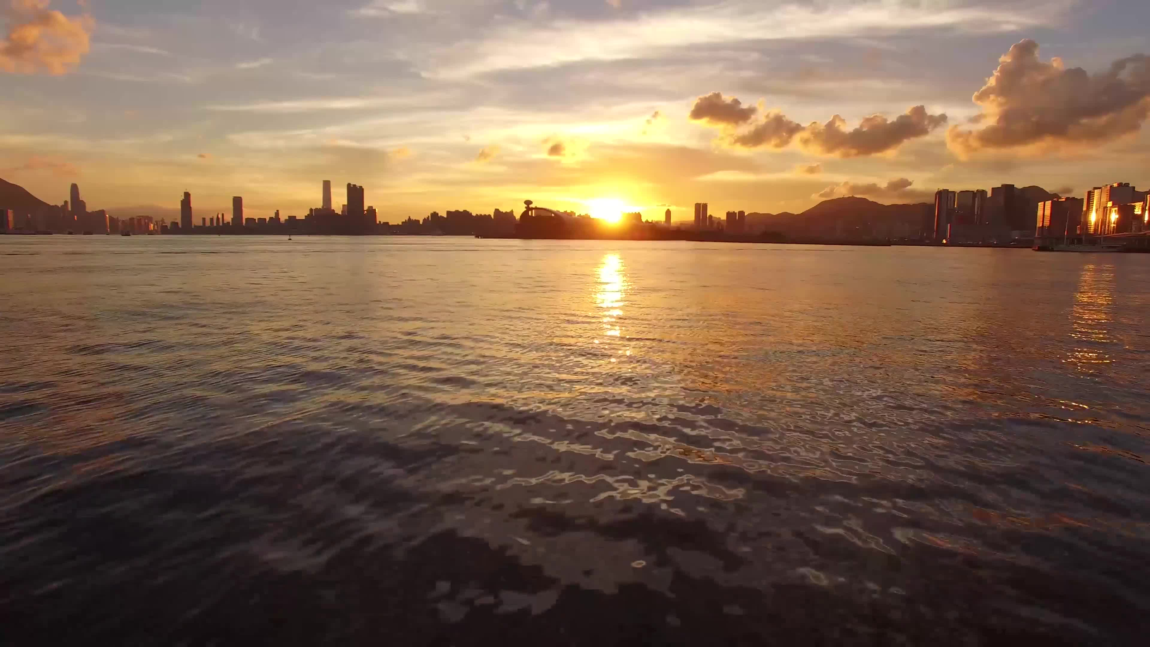 Footage of sunset view
