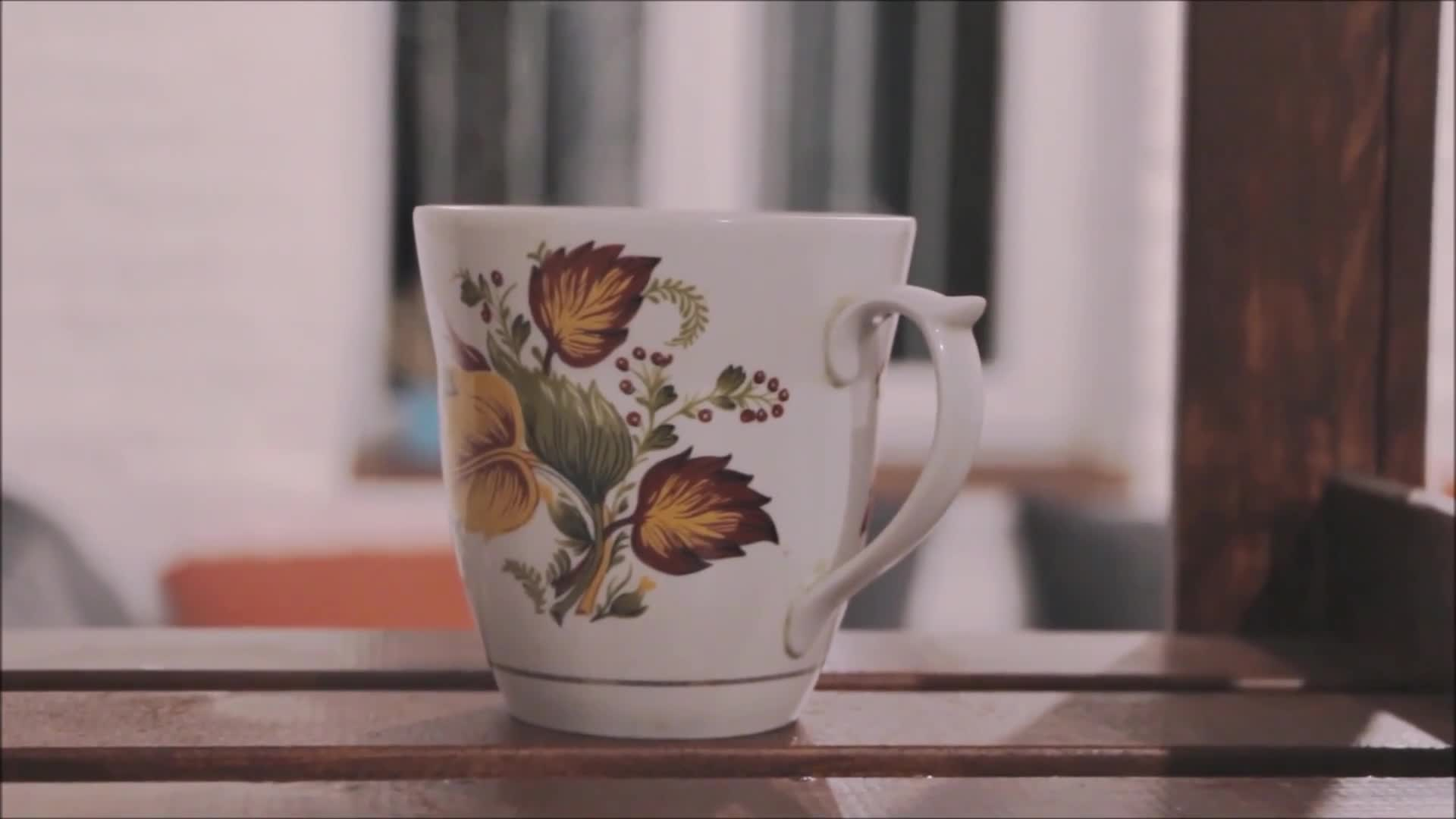Steaming tea cup