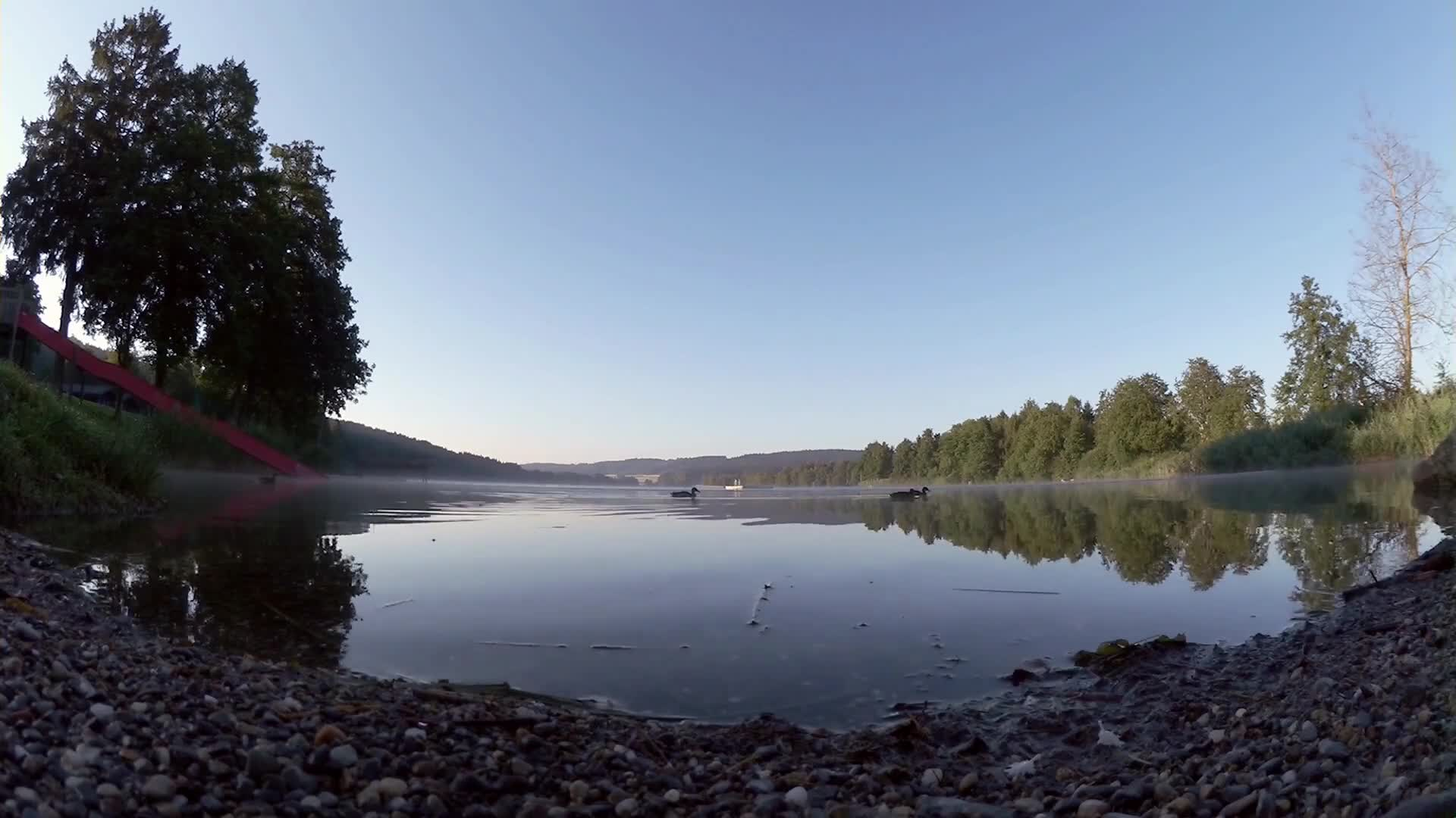 Time lapse video of a lake