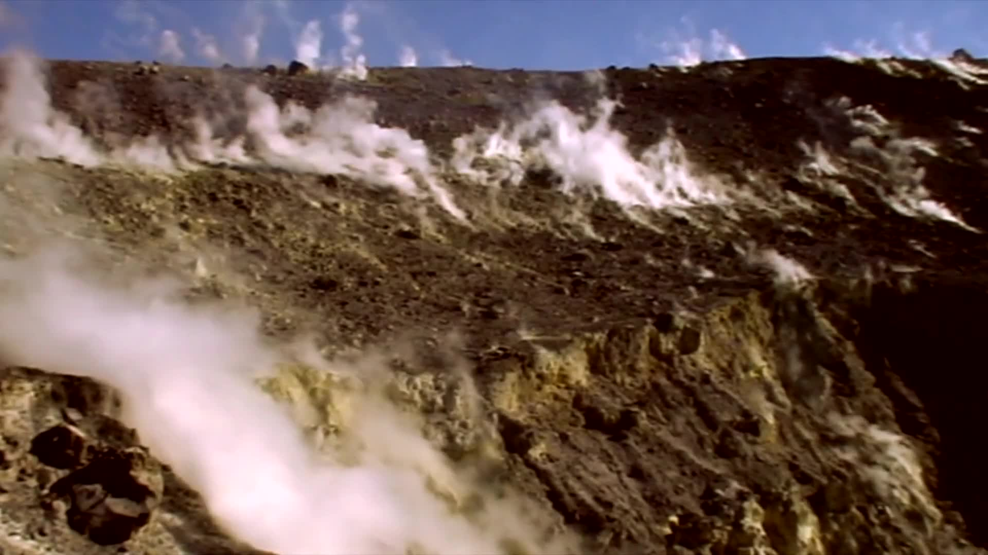 Video of volcanic gas