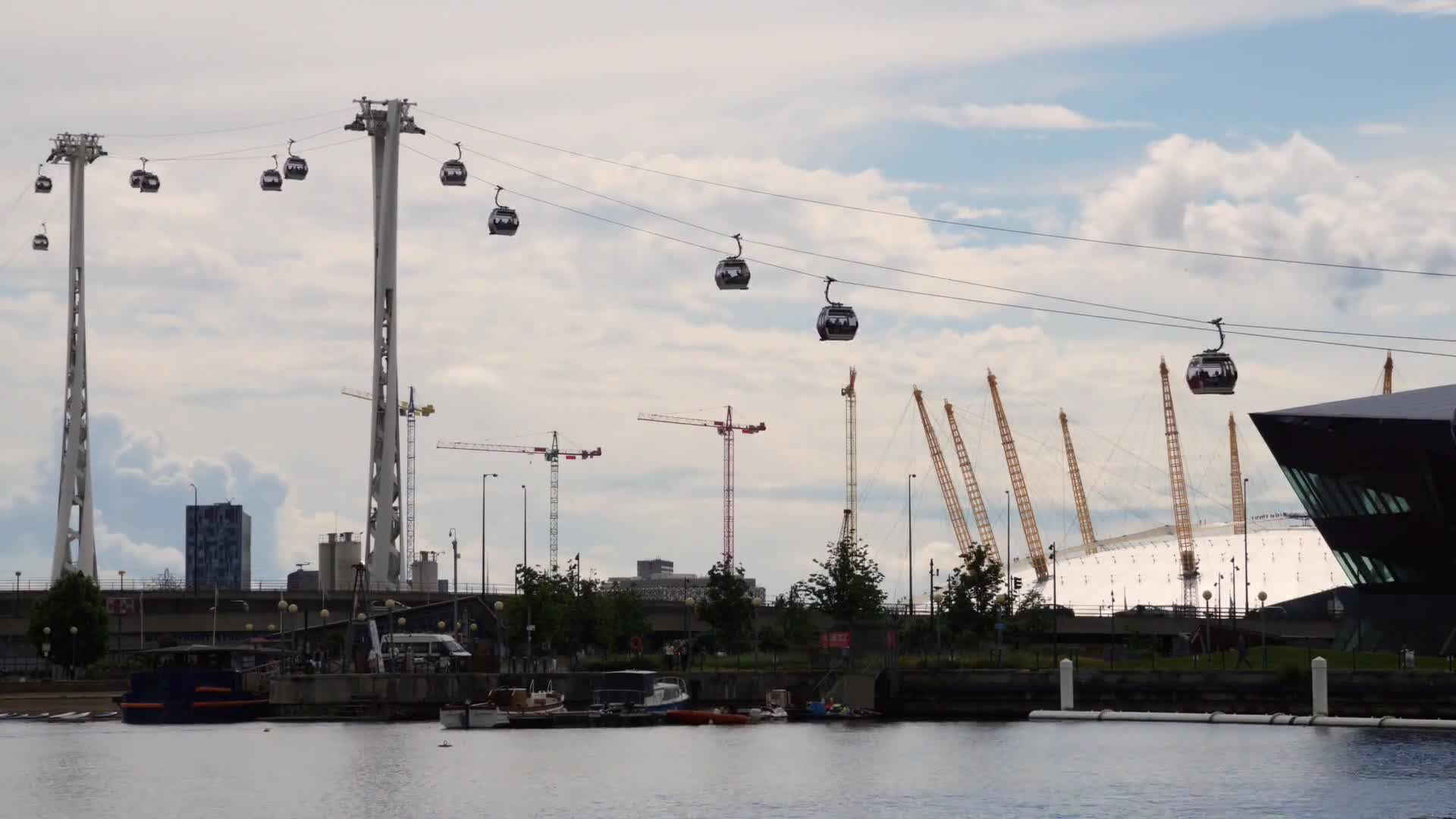 Time lapse video of cable cars