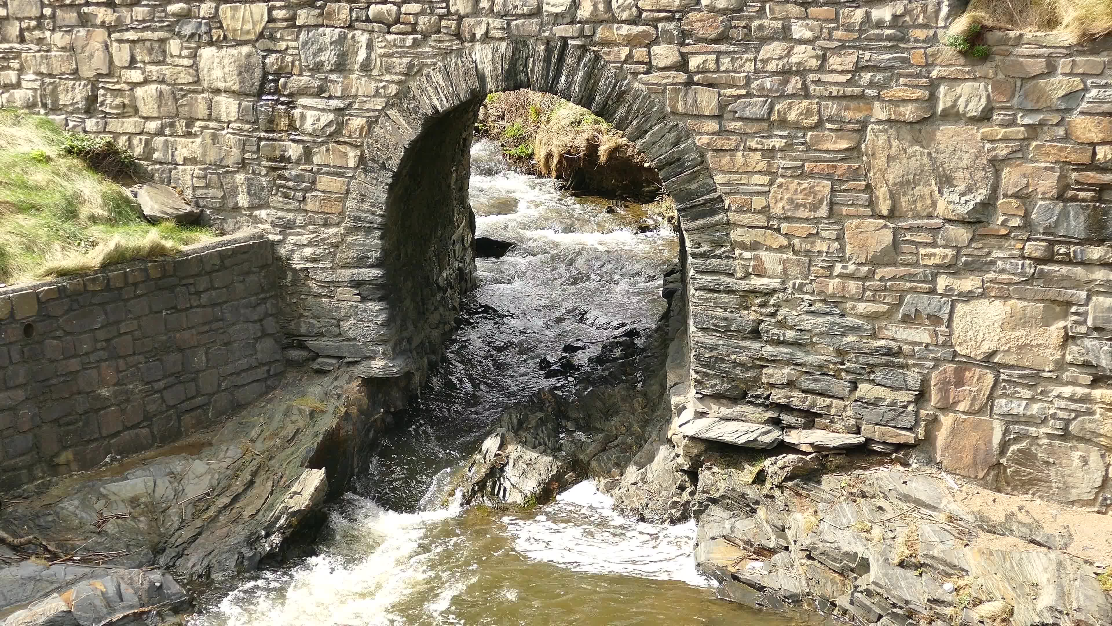 Water flowing through stream gate