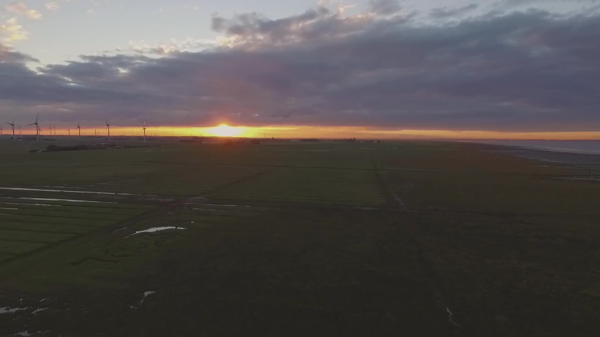 Sunrise drone video