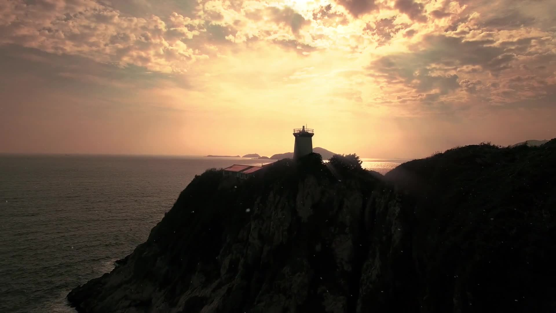 Lighthouse video during sunrise