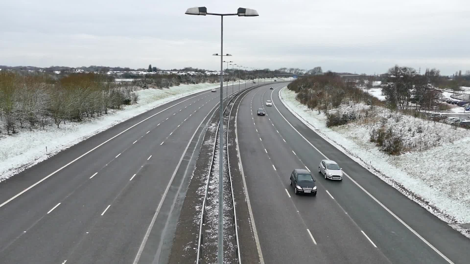 Highway during winter