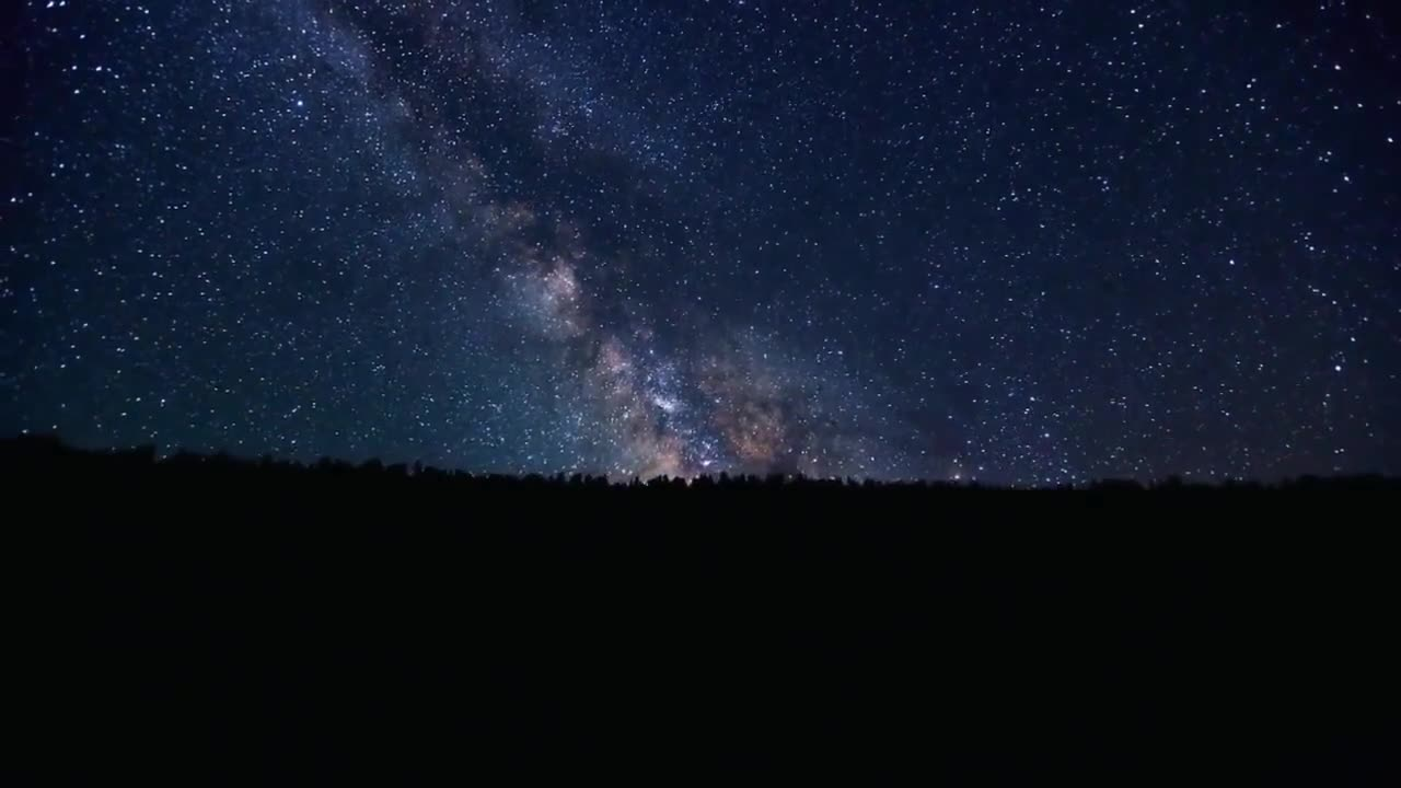 Time lapse video of milky way galaxy