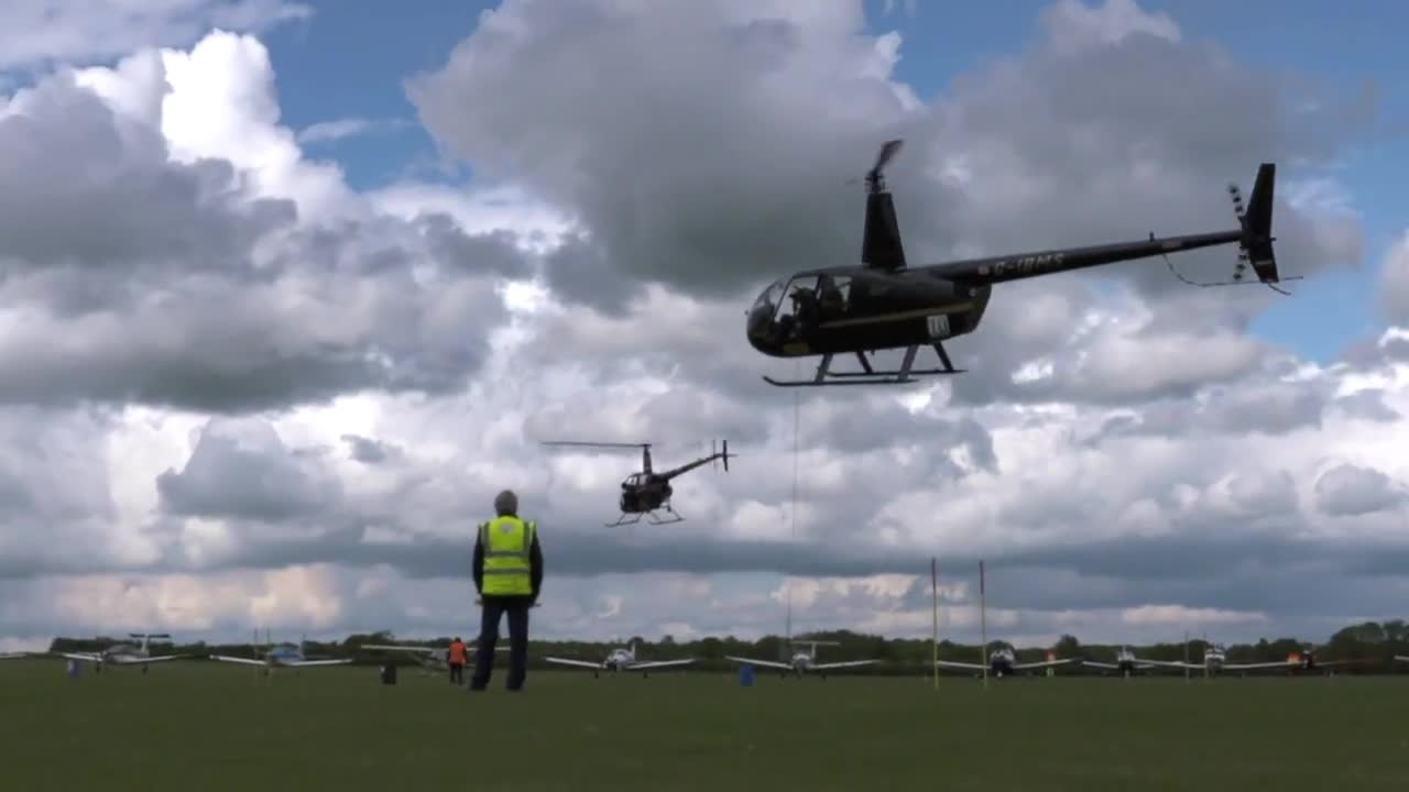 Airshow stunts of helicopters