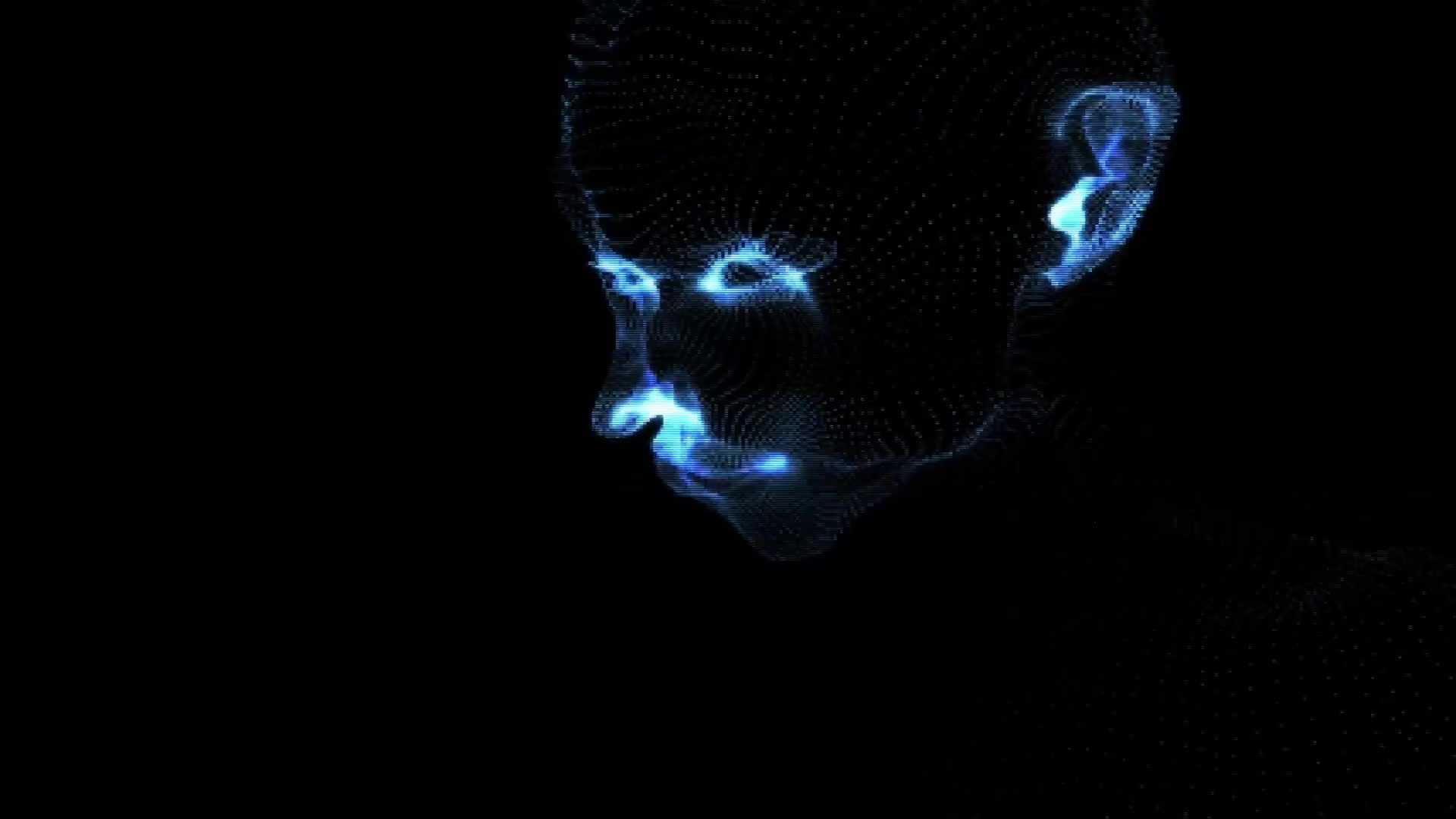 Animation of digital human face