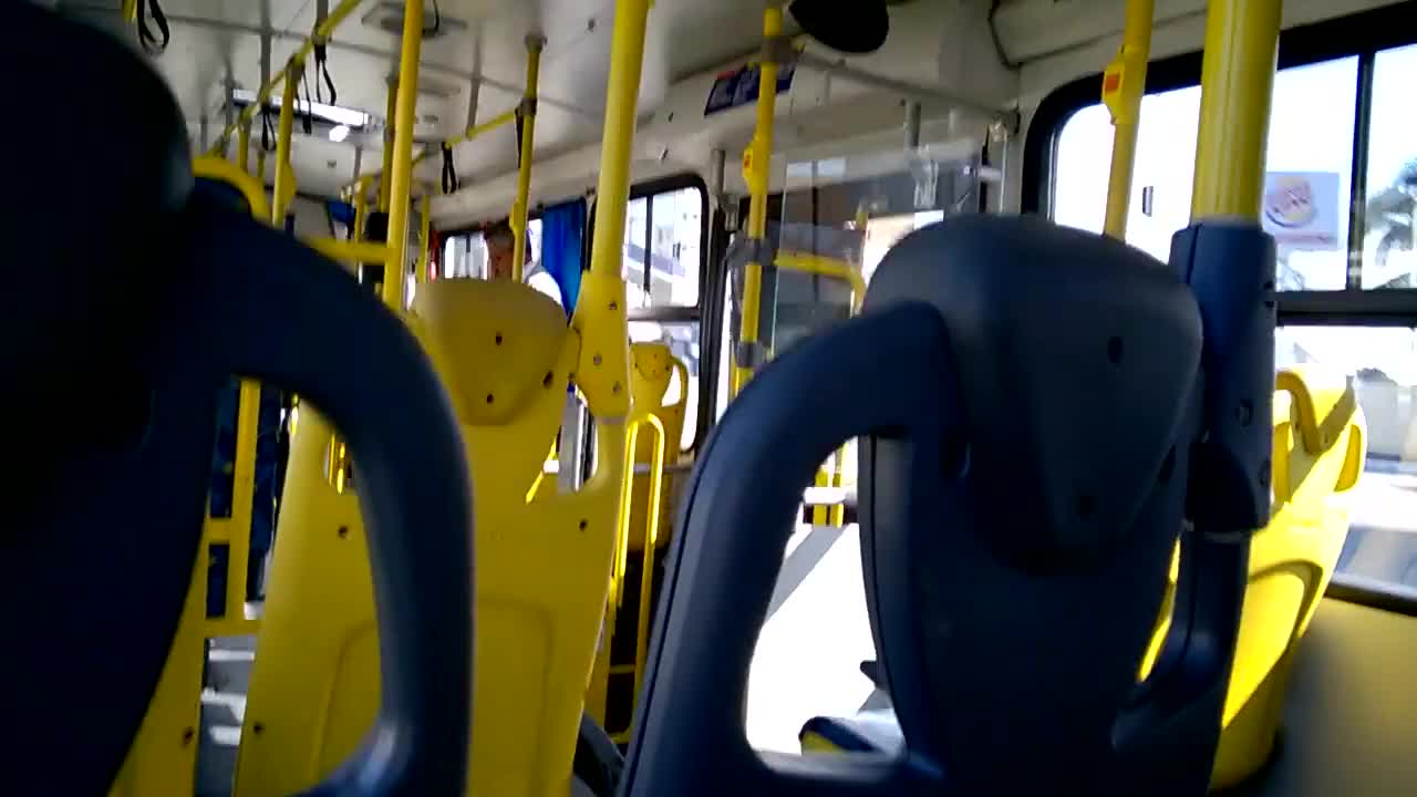 Video inside public bus