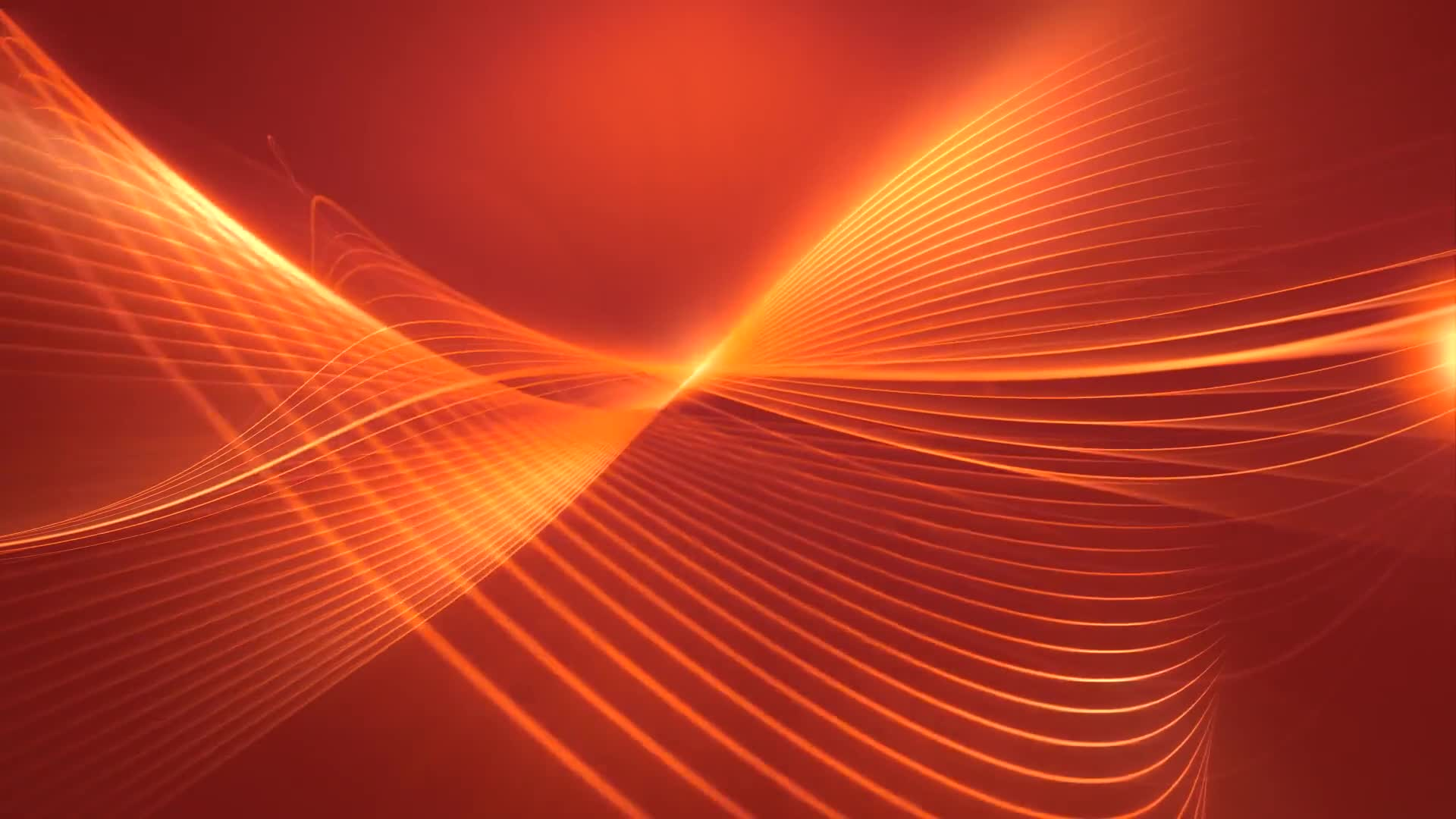 Waves orange lines forms strokes
