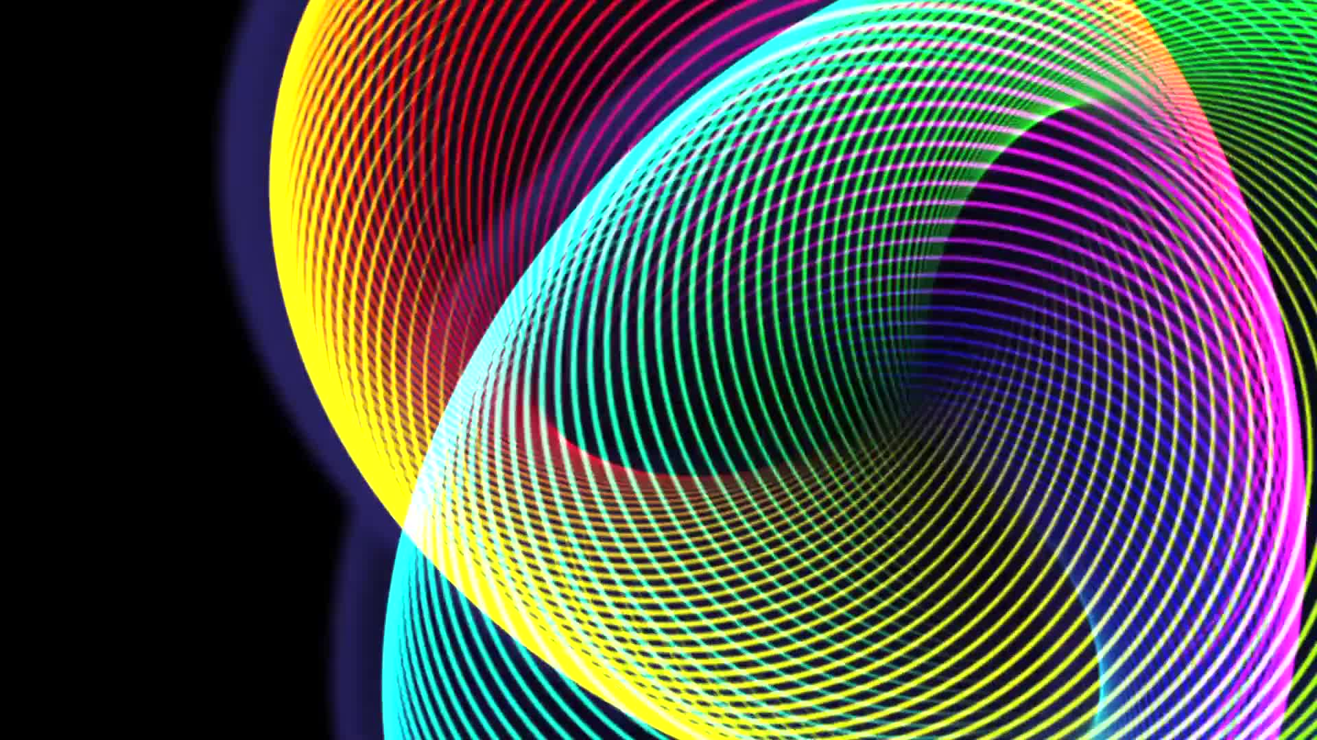 Rings circle lines abstract colorful