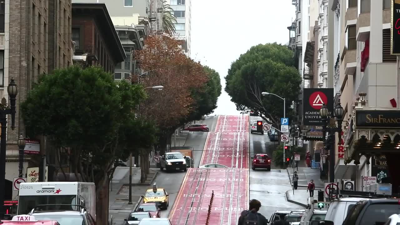 San francisco street slope down up