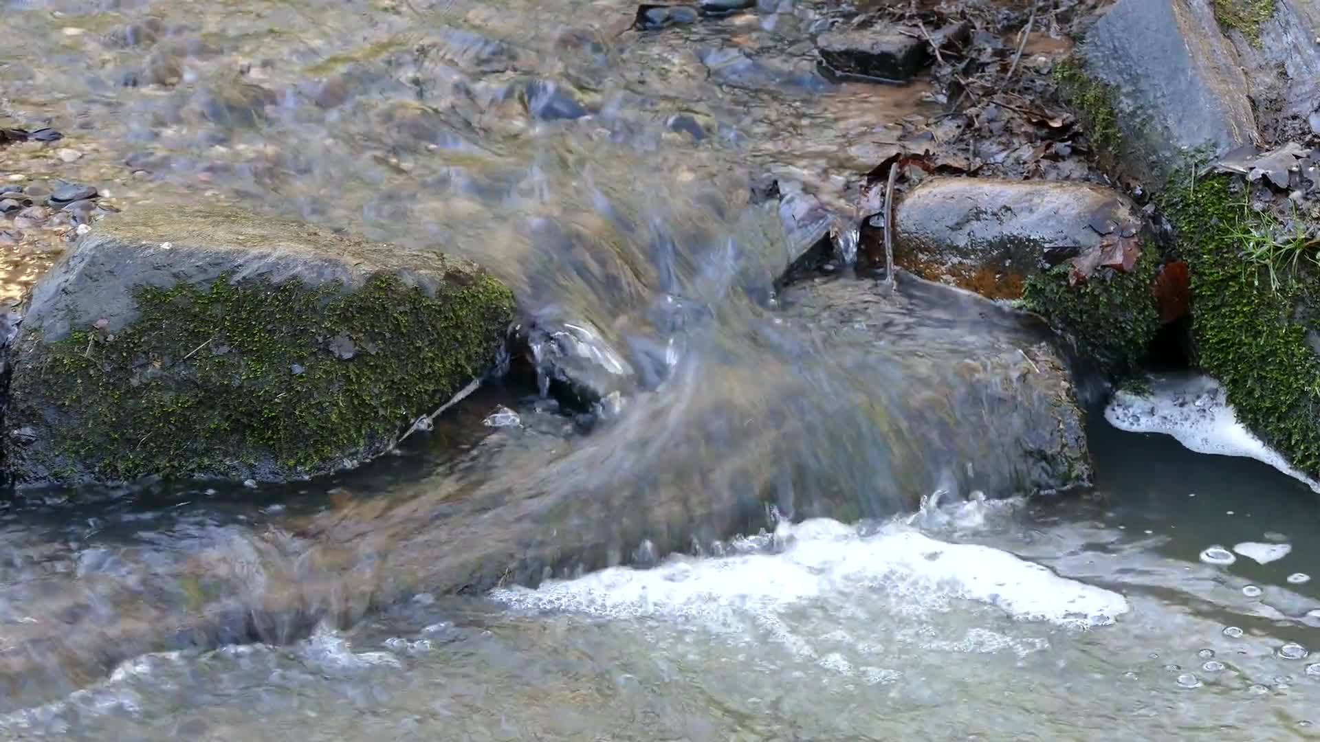 Stream water brook wet flowing