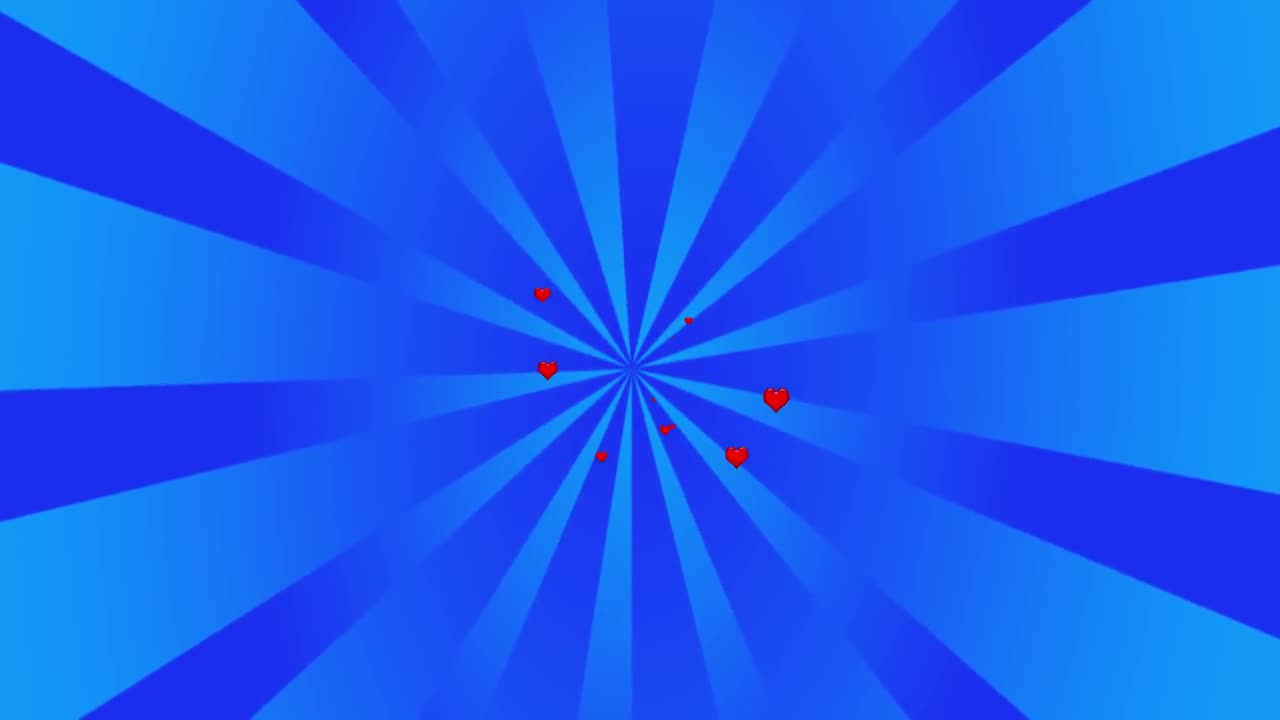 Hearts love valentine blue background