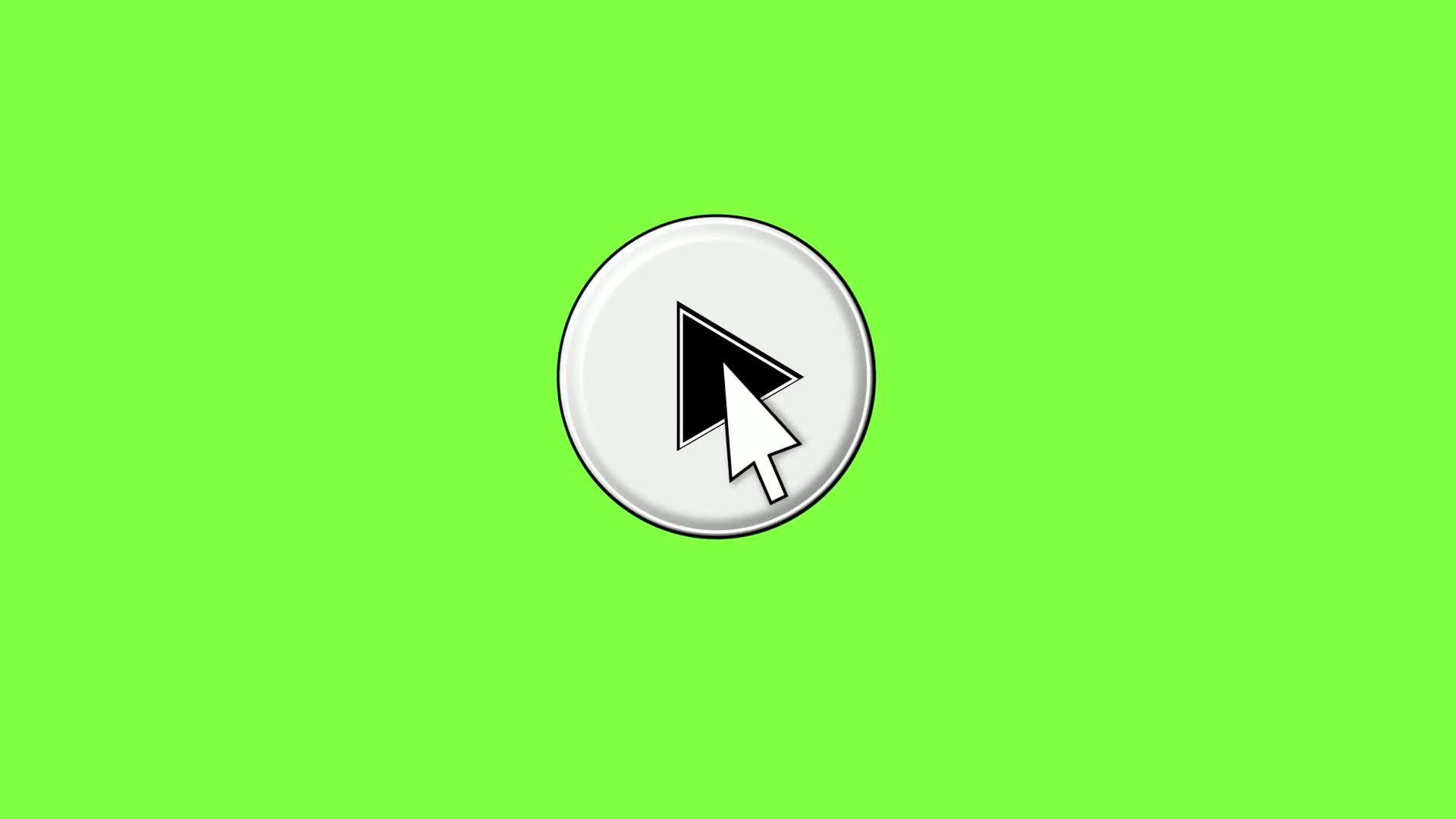 Click play button green video