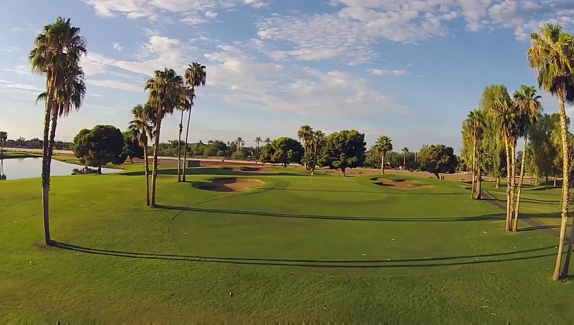 Golf course golfing grass palm trees vacations
