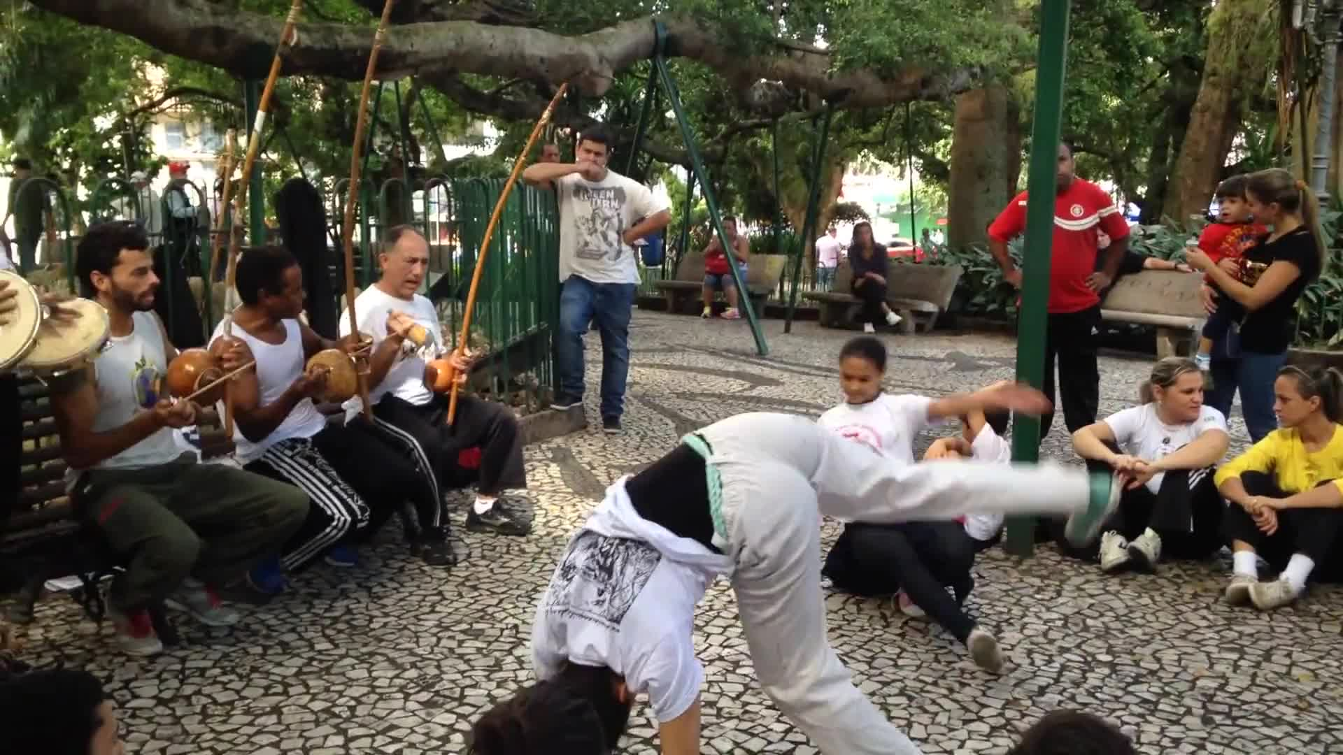 Capoeira dance brazil happy people performance