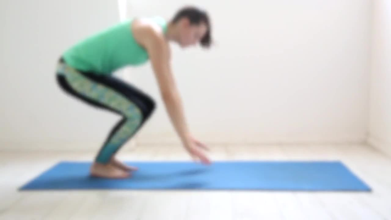 Yoga woman sports relaxing exercise