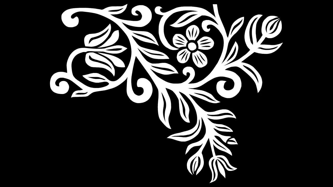 Flower floral vines silhouette animation