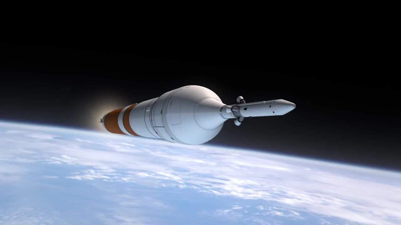 Space ship satellite deployment orbit
