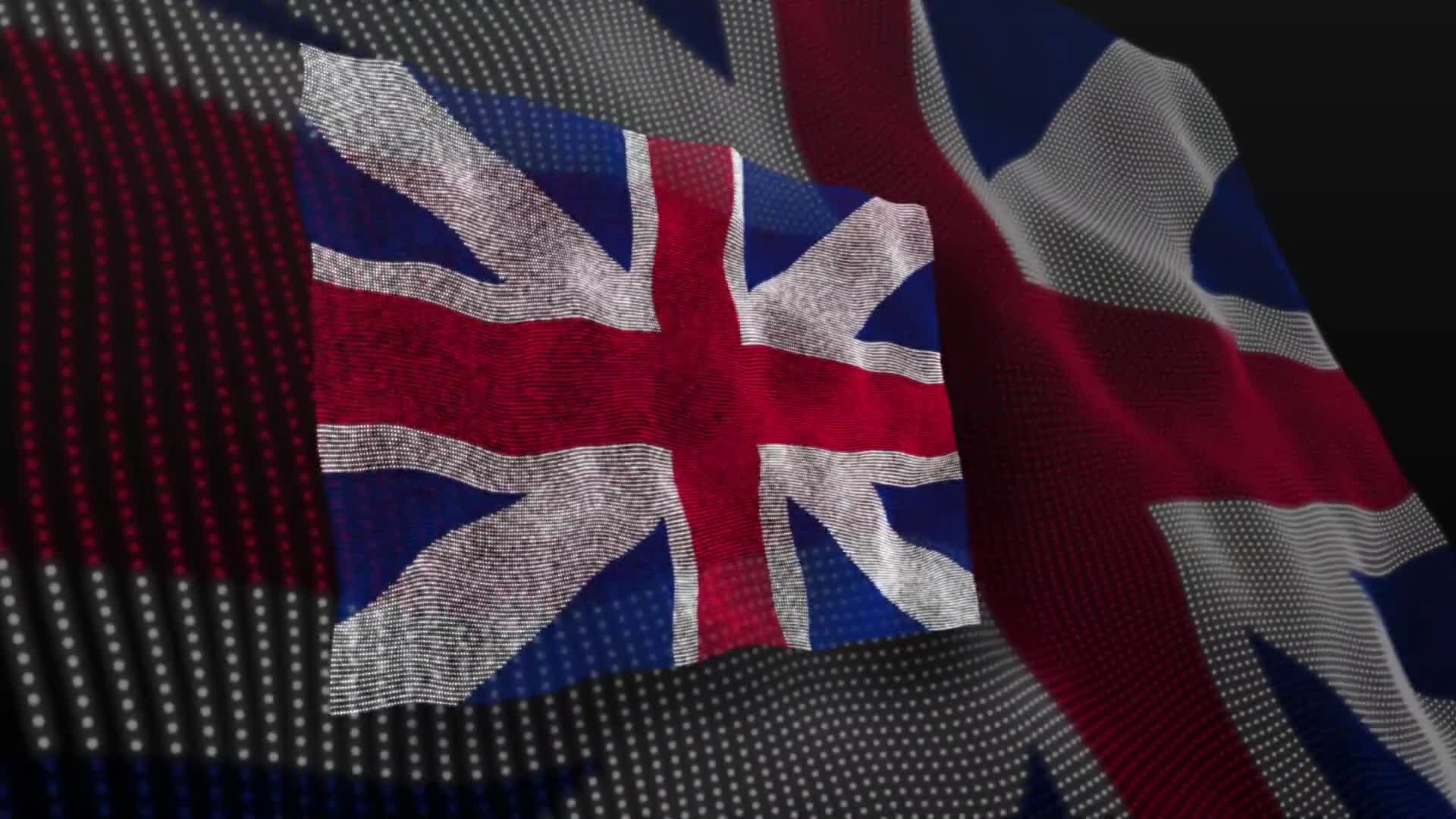 United kingdom flag england english blow
