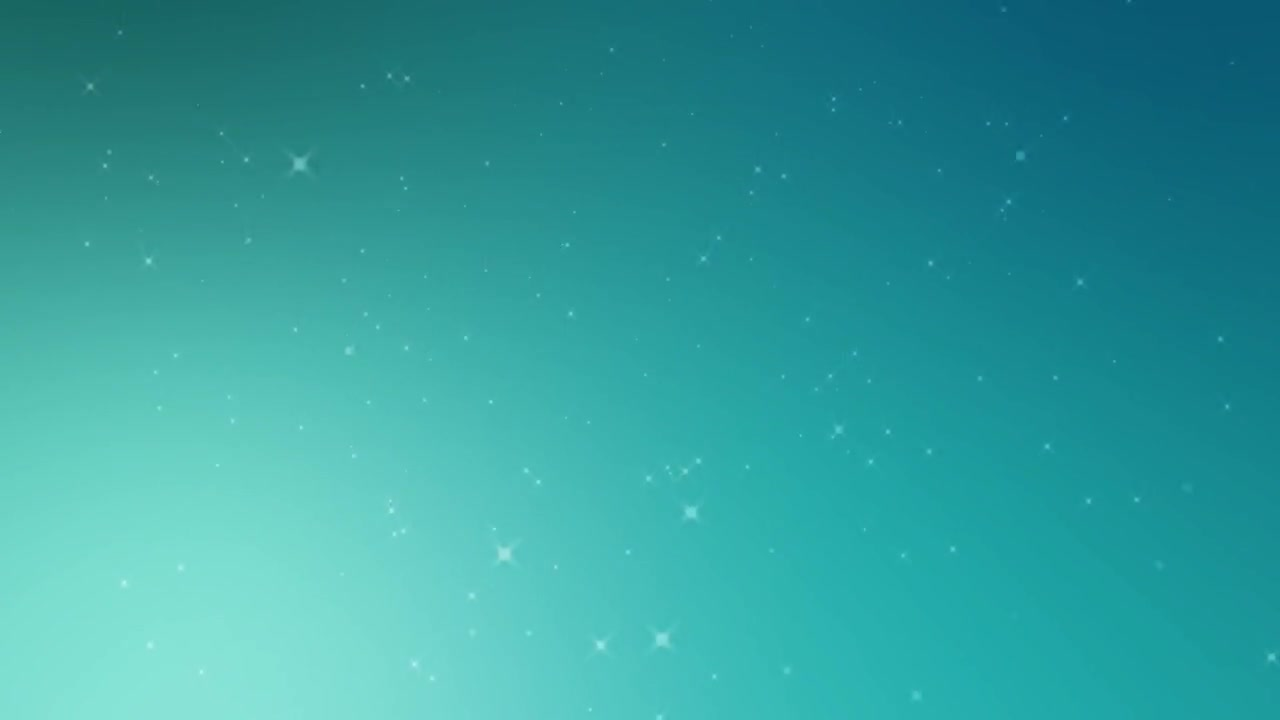 Blue teal background snowflake falling
