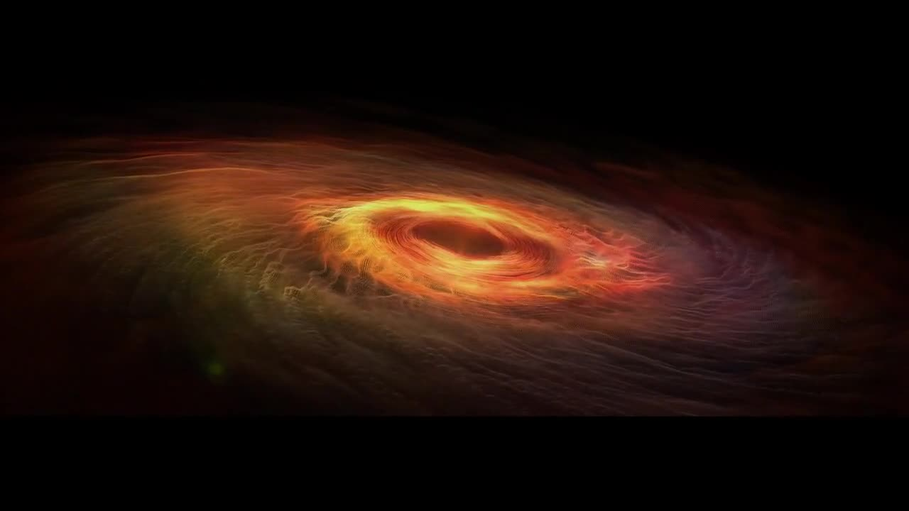 Galaxy black hole spiral stars rendered