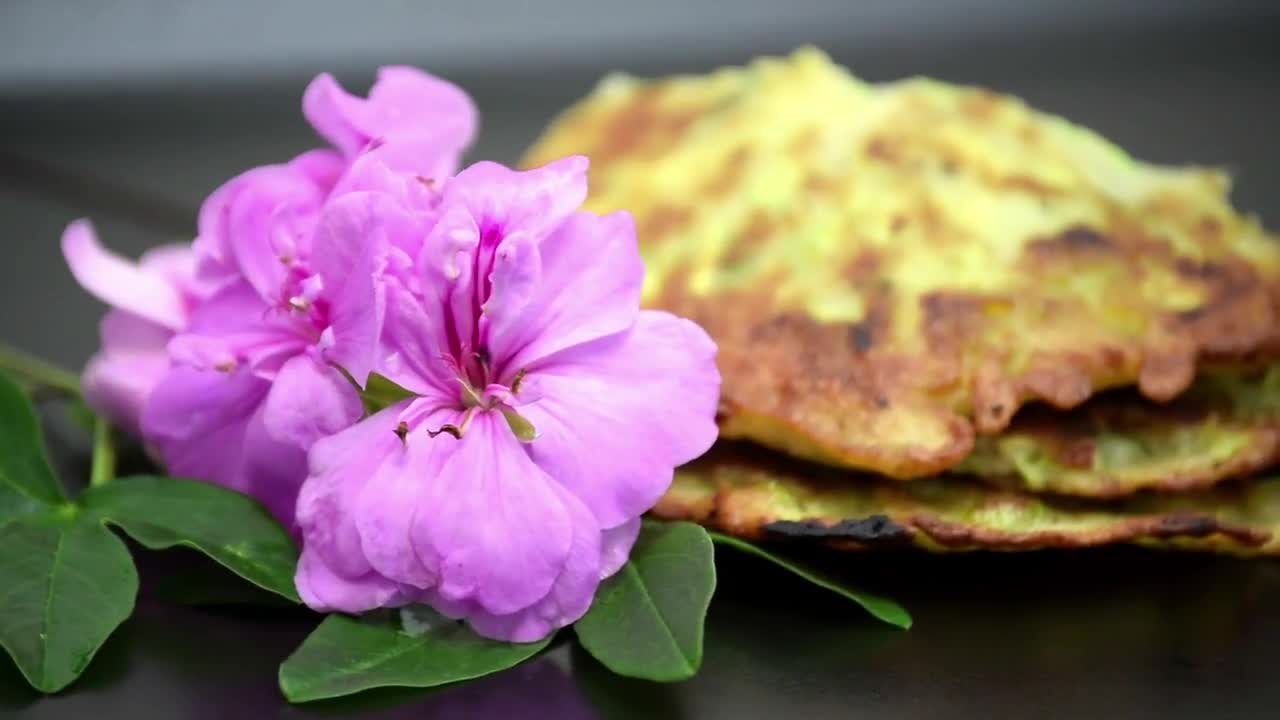 Vegetable pancakes food dish breakfast