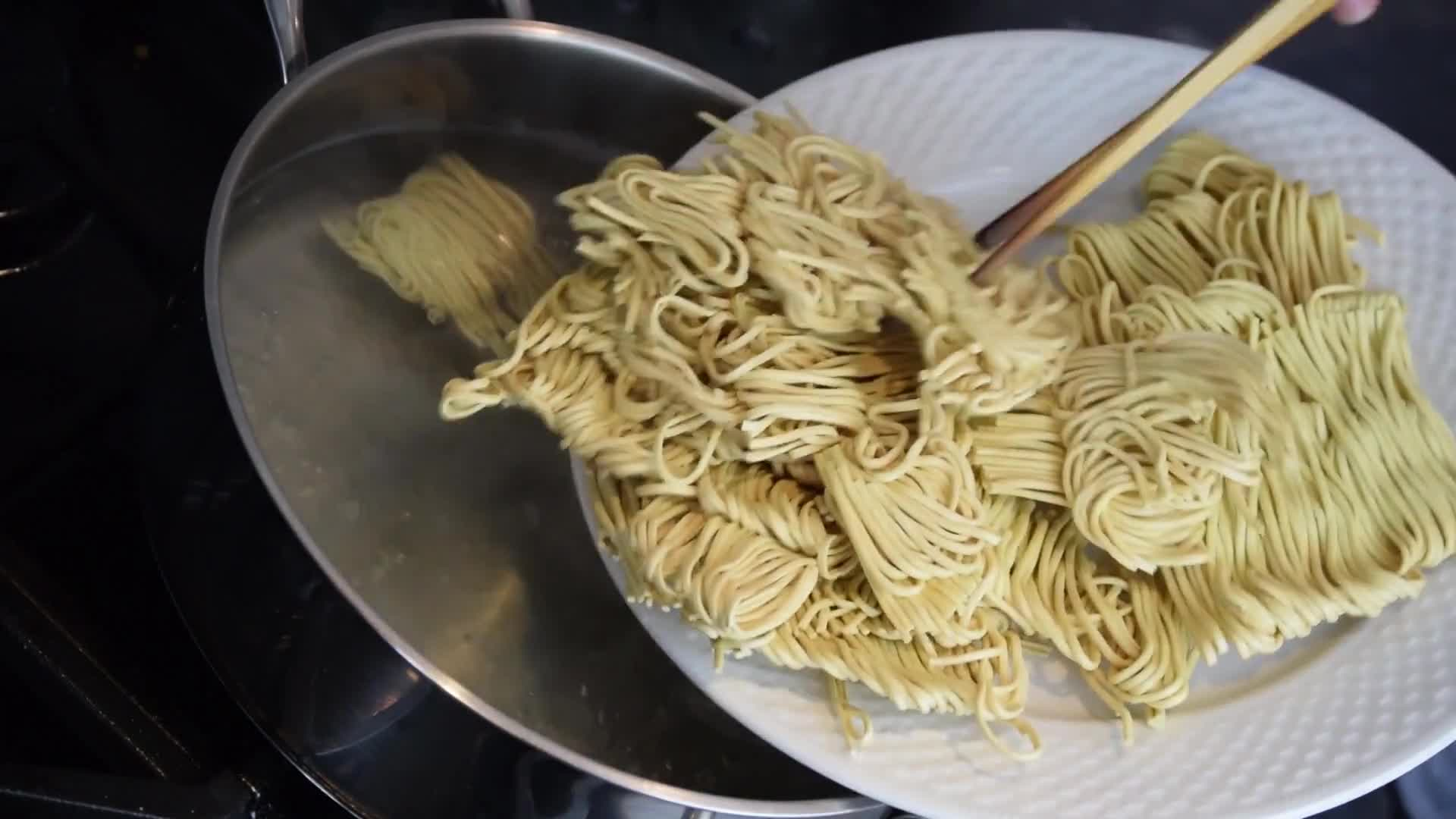 Cooking noodles food meal dish