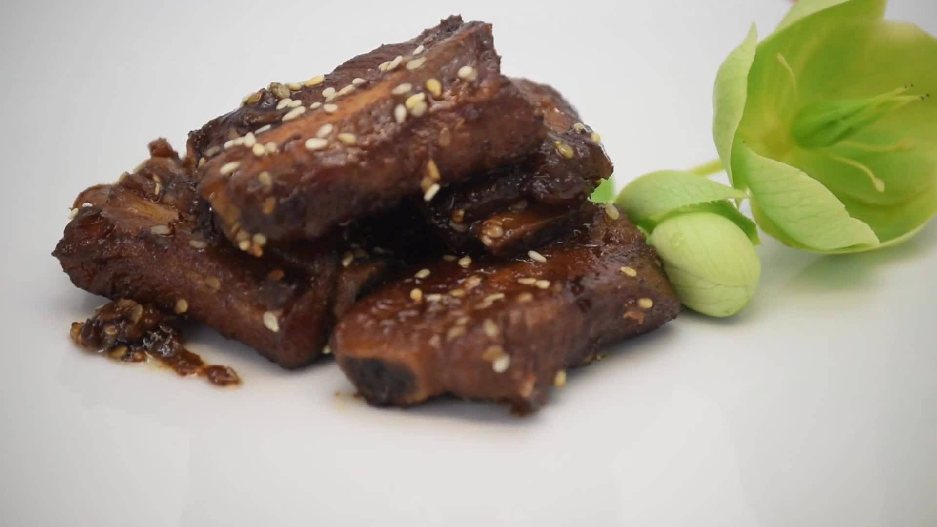 Chinese ribs sesame food pork
