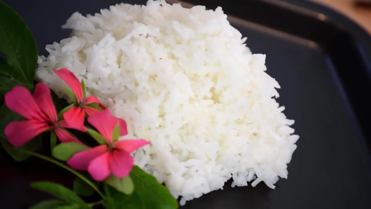Rice plain boiled food healthy
